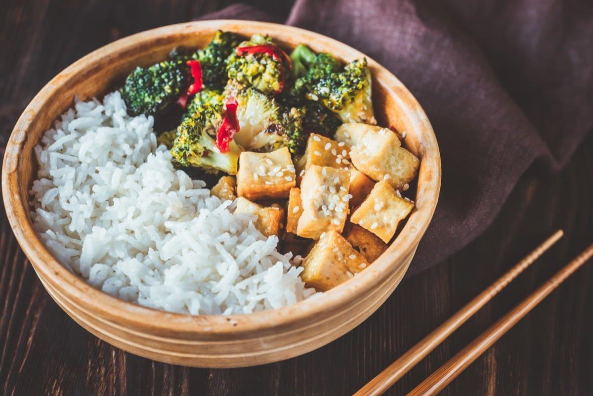 Salt & Pepper Tofu Rice Bowl Recipe